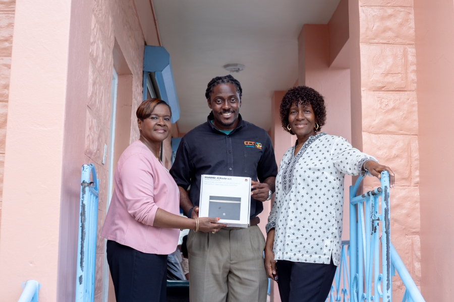 CCT donates a LTE Modem featuring complimentary internet service to the residents and staff of the Adina Donovan Home on Thursday, July 5, 2018. (Photo Credit CCT)